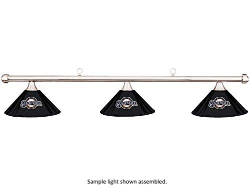 Imperial MLB Milwaukee Brewers Black Metal Shade & Chrome Bar Billiard Pool Table Light (Pool Milwaukee Brewers)
