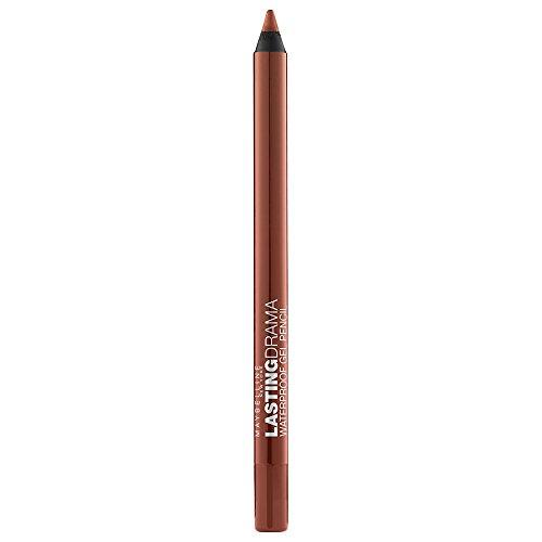 Maybelline New York Eyestudio Lasting Drama Waterproof Gel Pencil, Striking Copper, 0.037 Ounce