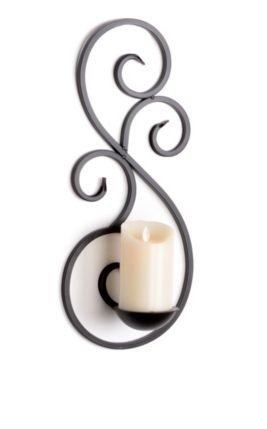 CraftVatika Unique Scrolled Metal Wall Sconce Candle Tealight Candle Holder | Wall Art lights for decoration | corporate gifts for employees clients friends (Gifts For Corporate Clients)