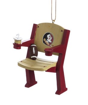Florida State Seminoles Official NCAA 4 inch x 3 inch Stadium Seat - Christmas Florida State Seminoles Stocking