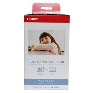 Canon KP-108IN Color Ink Cartridge. KP-108IN 108-SHEET 4X6IN & CLR INK/RIBBON FOR SELPHY CP760 CP770. Inkjet - Color by Canon