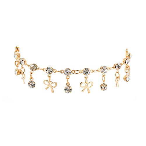 IslandseTrendy Simple Round Drop Butterfly Combined with Gold Anklet Bracelet