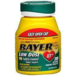 Bayer Regimen 81mg Easy Open Caplets 300 ct (pack of 2) (Regimen Caplets)