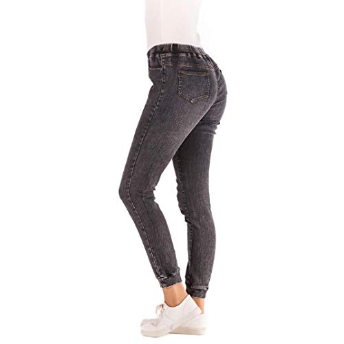 Jeans Collants Automne Noir Knickerbockers Plus MORCHAN Pantalon Denim lastique Femmes Leggings recadrs Courts Occasionnels Combinaisons lache 2018 EaEwq8rAP