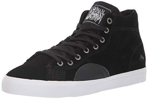 Emerica Men's Indicator HIGH X Funeral Skate Shoe, Black, 8 Medium US