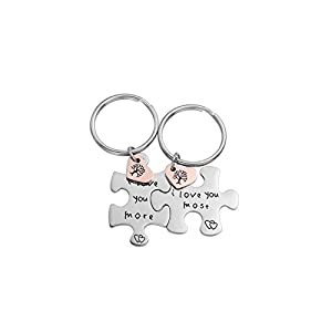 2pc jewelry stainless steel puzzle promise keychain gift for girlfriend boyfriend best friend