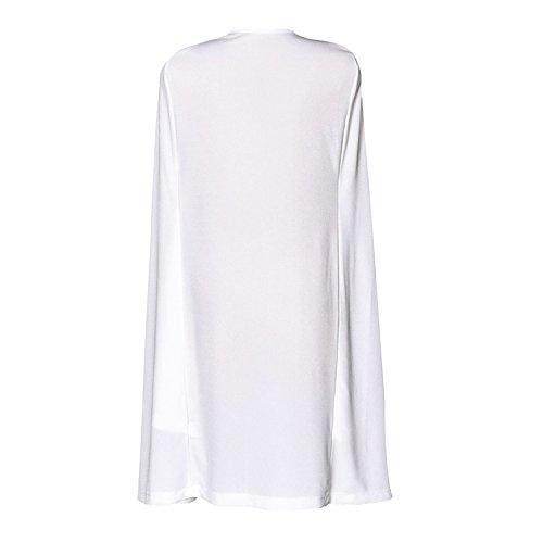Capuchon Longue Costume Blazer Cape Manteau Veste Femme LAEMILIA Blanc PwqBHXW