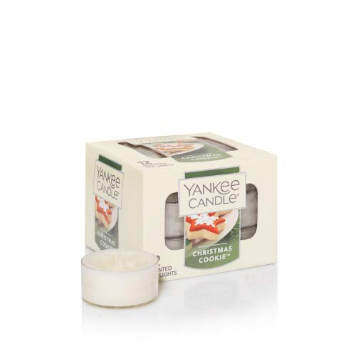 (Yankee Candle Christmas Cookie Tea Light Candles, Festive Scent)