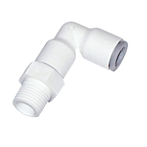 Bspt Swivel Elbow - Parker 6509 08 13WP2 LIQUIfit Fitting, Tube to Pipe, Bio-Based Polymer, Push-to-Connect and Male BSPT 90 Degree Swivel Elbow, 8 mm and 1/4