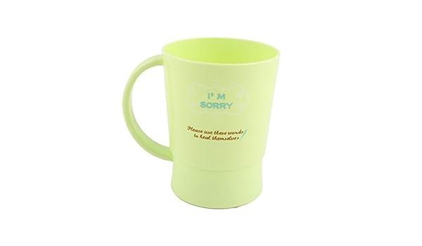 Amazon.com: eDealMax plástico Hogar Baño de agua de Cristal Cepillo de dientes Pasta de dientes Gargle Copa Verde claro: Home & Kitchen
