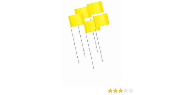 Bon 84-849 Lote de 1000 banderitas de delimitaci/ón color amarillo