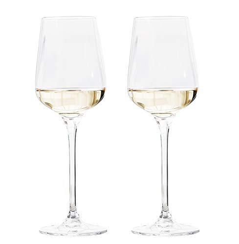Garwarm Lead-free Clear Crystal Glass Elegant Drinking Cups Red Wine Glasses,Set of 2,13.5 Ounce,Best For Birthday,Anniversary,Wedding Gifts or Engagement -