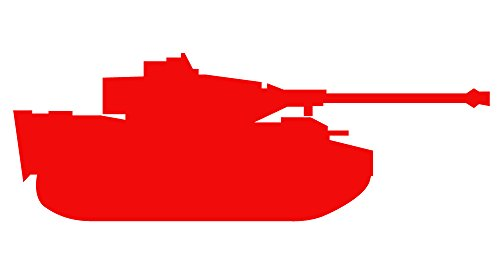 Auto Vynamics - MILITARY-TANKTRUCK05-3-GRED - Gloss Red Vinyl Military Tank / Truck Silhouette Decal - Traditional Tank / Track Vehicle 01 Design - 3-by-1-inches - (1) Piece Kit - Single Decal