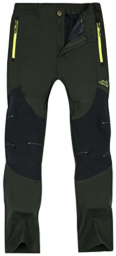 Singbring Men's Outdoor Lightweight Waterproof Hiking Mountain Pants (men-Medium, Olive)