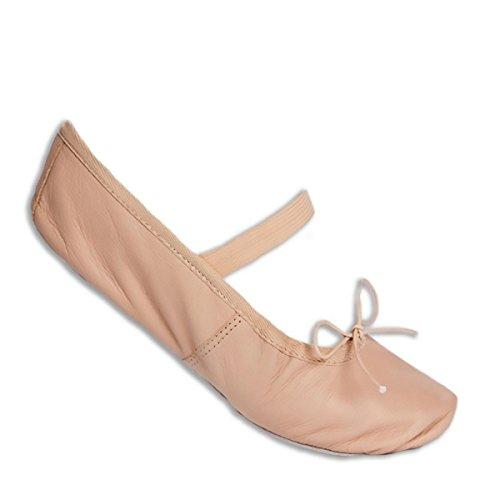 GIMER - Danse chaussures en cuir enfant - Rose - Enfant