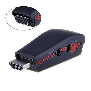 Ss - salida HDMI macho a VGA hembra adaptador de corriente USB ...