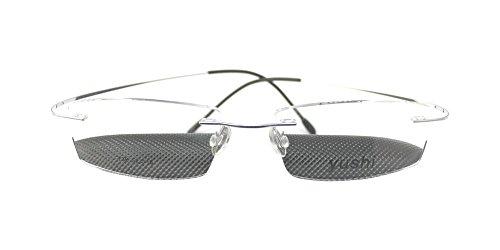 Luxury Titanium Silver Rimless Optic Flexible Eyeglass Frame Eyewear - Versace Eyeglasses Gianni