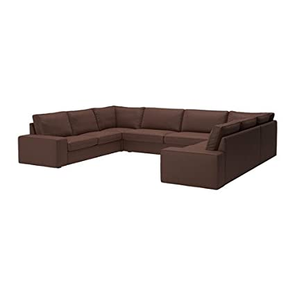 Amazon.com: Ikea Sectional, 7-seat, Borred dark brown ...