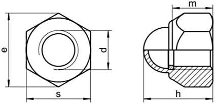M4 Sechskant-Hutmuttern Selbstsichernd Edelstahl A2 DIN 986 x1