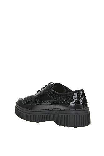 Negro Mcglcab000004063i Zapatos Cordones Tod's Charol Cuero Mujer De Rq6Cg
