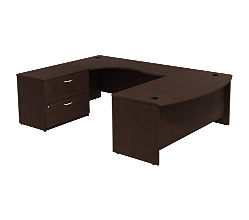 Wood & Style Furniture 72W Bowfront RH U-Station with 2-Drawer Lateral File Premium Office Home Durable - File Lateral Bow Right