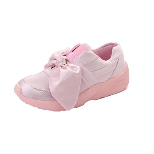 Shoes Knot Flat Casual Shoes Silk Bow Lightweight Sneakers Flats Spring Knot Trainers Running Round Bovake Lady Pink Shoes Jogging Gym Shoes Fitness Woman Woman Espadrilles Bow Shoes Butterfly HFOqYdYw