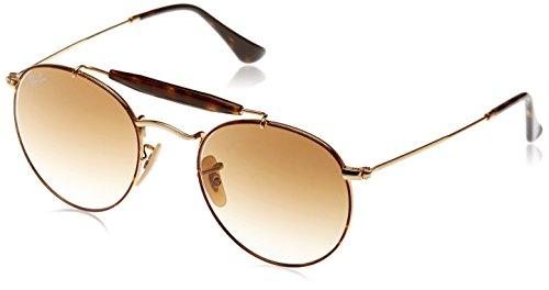 Ray-Ban Metal Unisex Round Sunglasses, Matte Black, 50 mm