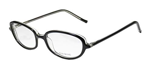 Vera Wang V40 Womens/Ladies Ophthalmic Inexpensive Designer Full-rim Eyeglasses/Eyeglass Frame (51-17-136, Black)