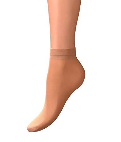 Womens Nylon Socks - Sheer Ankle Socks for Women