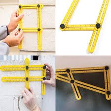 - Improved Angleizer Template Tool - Scale Ruler - Perfect Angle Measuring Ruler for DIY - Exact Shape Finder - A Professional Handy Man Must Have - Perfect Gift