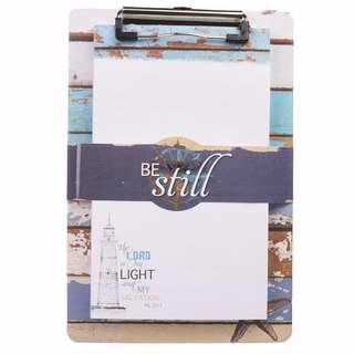(Lighthouse Collection Clipboard w/Notepad - Psalm 27:1 )