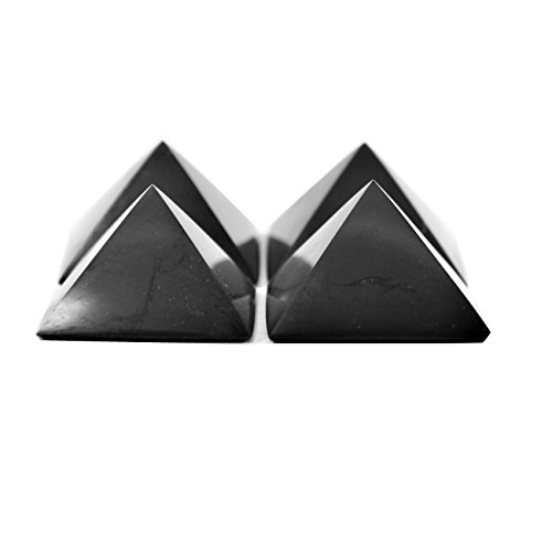 Karelian Heritage Regular Shungite Pyramid Set for EMF Protection, 4 Pieces at The Price of 3, S042 ()