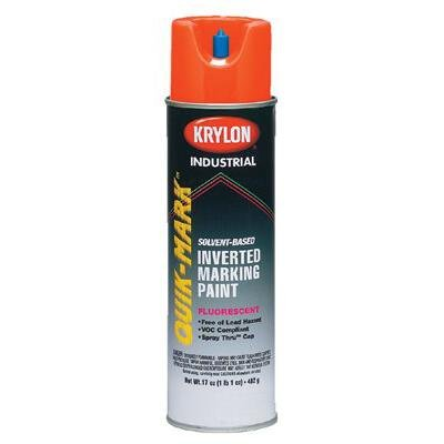 Krylon Industrial Quik-Mark 36137 Fluorescent Safety Red Alkyd Enamel Paint - 20 oz Aerosol Can - S03613 [PRICE is per CAN]