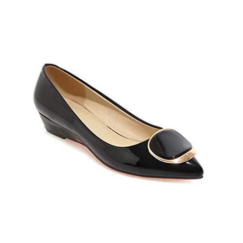 Printemps mariée Talons Dames Mariage Chaussures Slip Femmes Noir Bas de Chaussures on Chaussures Pompes de Talons Pompes C0Hwqt
