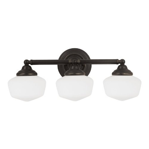 Sea Gull Lighting 44438-782 Academy Three Light Wall / Bath Vanity Style Lights, Heirloom Bronze Finish