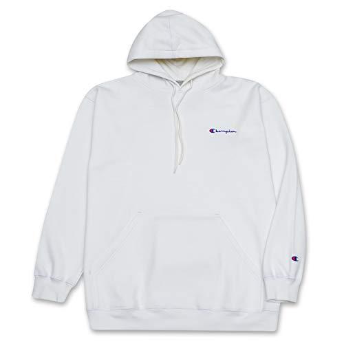 Champion Big and Tall Mens Cotton Fleece Pullover Hoodie Sweatshirt White/Heather Grey 3X