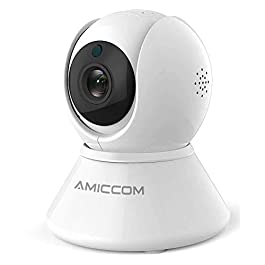 Home Security Camera, Indoor WiFi Camera Wireless 1080p HD Pan/Tilt/Zoom Cam Pan Wi-Fi Smart IP Camera for Baby/Pet…