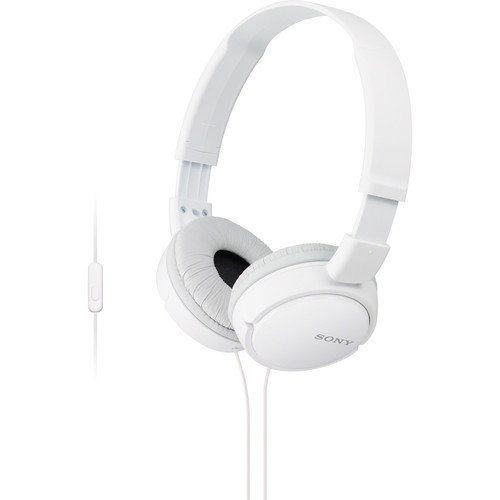Sony Premium Lightweight Extra Bass Stereo Headphones With Universal In-line Microphone and Remote for Apple Iphone/Android Smartphone - Sony Ear Headphones Stereo On