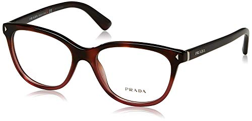 (Prada JOURNAL PR14RV Eyeglass Frames TWC1O1-54 - Red Havana Gradient PR14RV-TWC1O1-54)