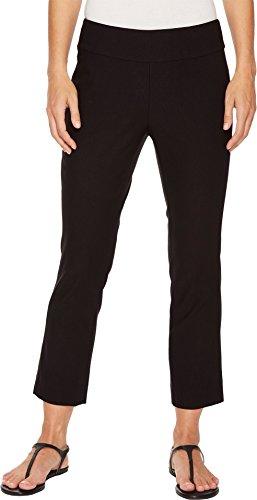 (NIC+ZOE Women's Cropped Wonderstretch Pants Black Onyx 16)