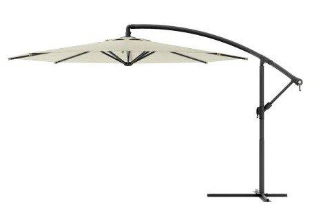 Offset Umbrella, Outdoor Patio - 10 Ft., Warm White