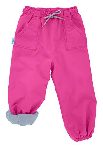 (JAN & JUL Kids Water-Proof Fleece-Lined Rain Pants (Fleece-Lined: Hot Pink, 5T) )