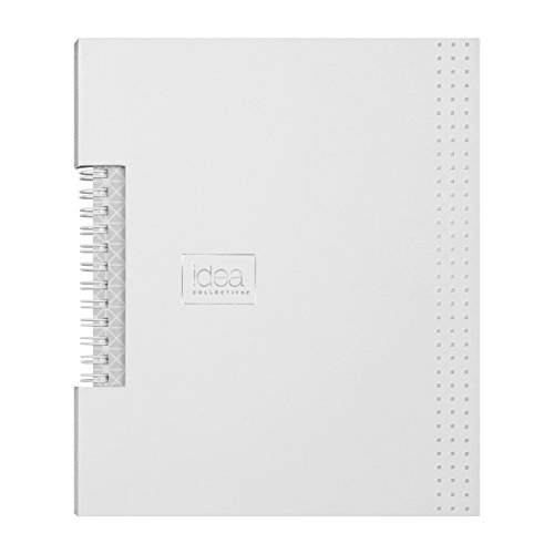 Oxford Idea Collective Business Notebook, 8 1/4 x 5 7/8, Double Wire, Case Bound, White, 80 sheets (56898)