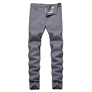 Men's Skinny Slim Fit Stretch Straight Leg Fashion Jeans Pants