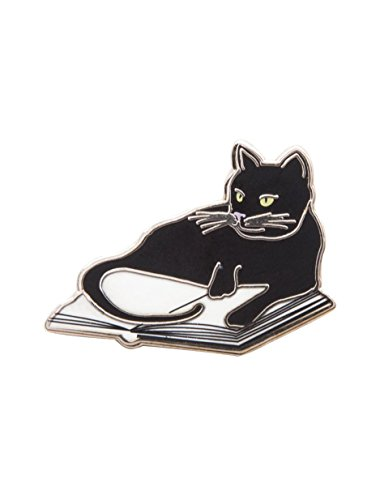Out of Print Bookstore Cat Enamel Pin ()