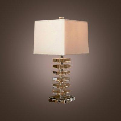 Mei sofisticado lámpara de mesa diseño combina cristal ...