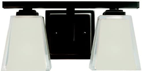 Kichler 5460OZ Bath Vanity Wall Lighting Fixtures, Bronze 2-Light 13 W x 7 H 200 Watts