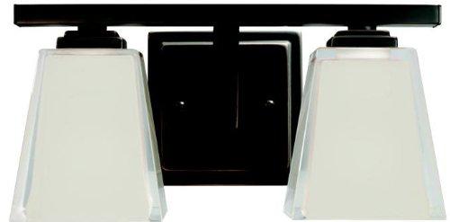 Kichler 5460OZ Bath Vanity Wall Lighting Fixtures, Bronze 2-Light (13