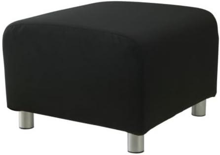 Ikea Klippan Pouf Granan Noir Amazon Fr Cuisine Maison