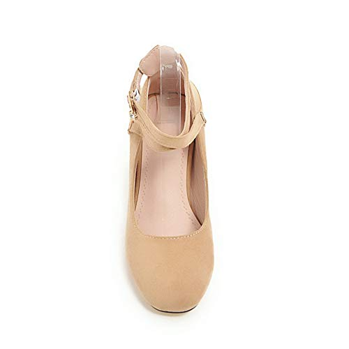 Solid apricot APL10591 Womens Leather Travel Nubuck BalaMasa Shoes Pumps 5fqz4W
